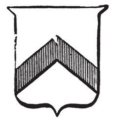 Heraldry chevron have line pattern in one part vector
