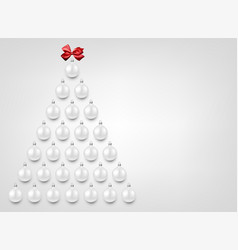 holiday background with white christmas balls vector image vector image