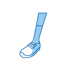 leg sport with sneaker design graphic vector image