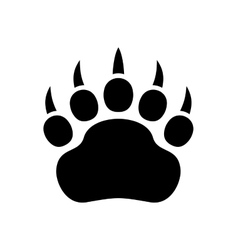 Paw Black Print Icon on White Background vector image vector image