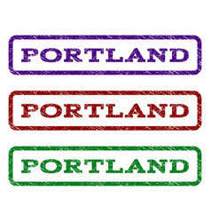 Portland watermark stamp vector