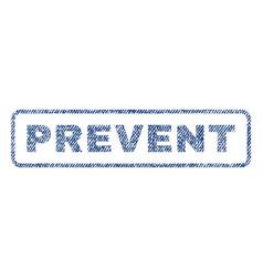 Prevent textile stamp vector