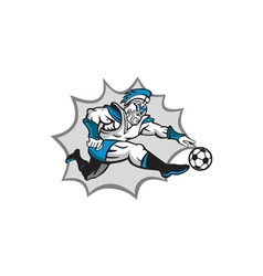 Roman Warrior Soccer Player Ball Retro vector image vector image