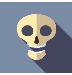 Scull icon flat style vector