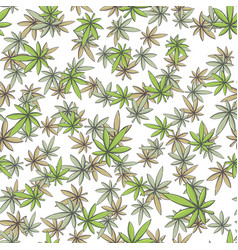 Seamless texture marijuana one vector