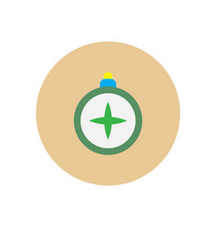 Stylish icon in circle vintage tourist compass vector
