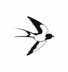 Swallow icon black simple style vector image