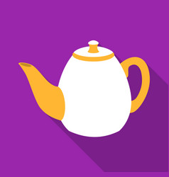 Teapot icon in flat style isolated on white vector