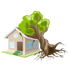 Tree fell on house home insurance vector