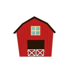 barn house farm ranch icon graphic vector image