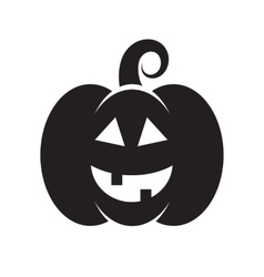 Black icon of halloween pumpkin vector