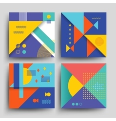 Minimal 2d design model covers placards vector