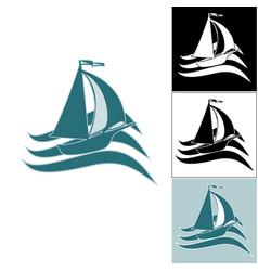 a set of ship logos vector image