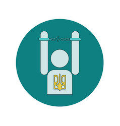 In flat design of ukrainian vector