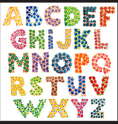 colorful funny dotted alphabet vector image