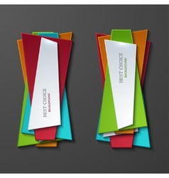 Moder banners element design vector