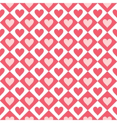 Seamless pattern of hearts and geometrical shapes vector
