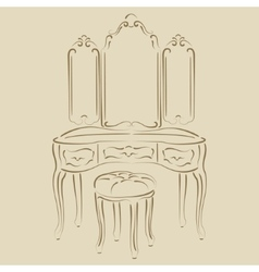 Dressing console vector