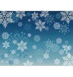 Blue background with snowflakes2 vector