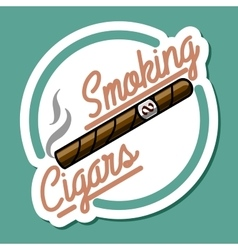 Color vintage smoking emblem vector