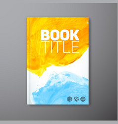 abstract book watercolor cover template vector image