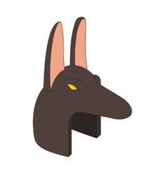 Anubis head icon in cartoon style vector image vector image