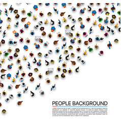 Big people crowd on white background vector