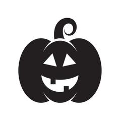 Black icon of Halloween pumpkin vector image