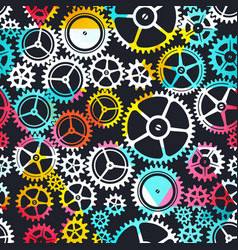 colored clockwork seamless texture vector image vector image