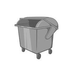 Dumpster icon black monochrome style vector