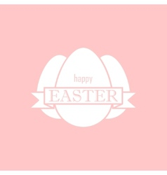easter with eggs and ribbon happy easter vector image vector image