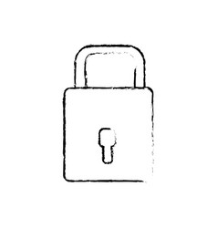 Figure padlock to have sacurity the special thing vector