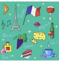 French symbols pattern vector