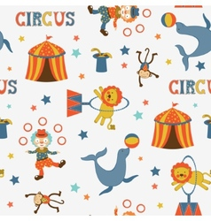 Fun circus pattern vector image vector image