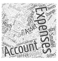 Inventory and expenses word cloud concept vector