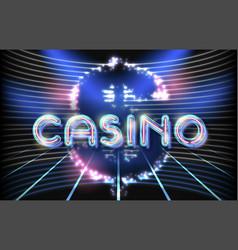 jackpot casino neon lettering vector image vector image