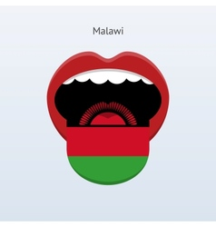 Malawi language abstract human tongue vector