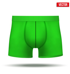 Male green underpants brief isolated on background vector