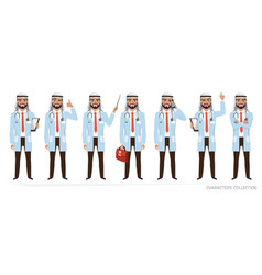 muslim arabic doctor men character vector image