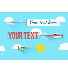 Plane with fly banners vector