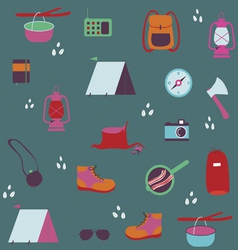 Seamless pattern with traveler objects vector