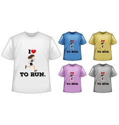 Short sleeves shirt vector image vector image