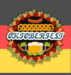 The theme oktoberfest vector