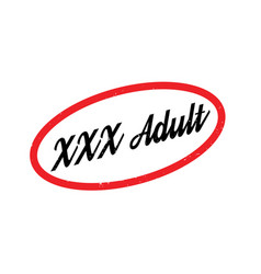 xxx adult rubber stamp vector image vector image