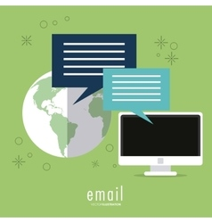 Bubble planet and computer icon email design vector