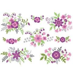 Floral Bouquets vector image