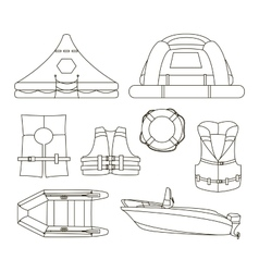 Water rescue set vector