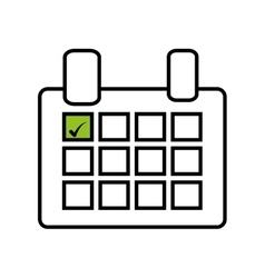 Calendar reminder mark day isolated icon vector