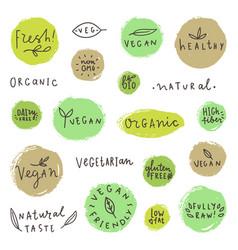 Set og vegan signs vector