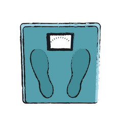 Weight scale icon vector
